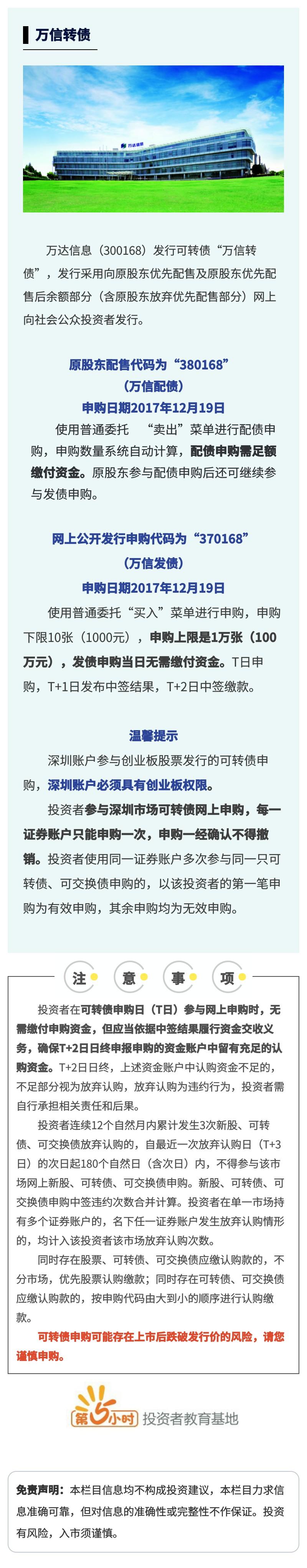"""【打新债】""""万达信息 """"公开发行可转换公司债.jpg"""
