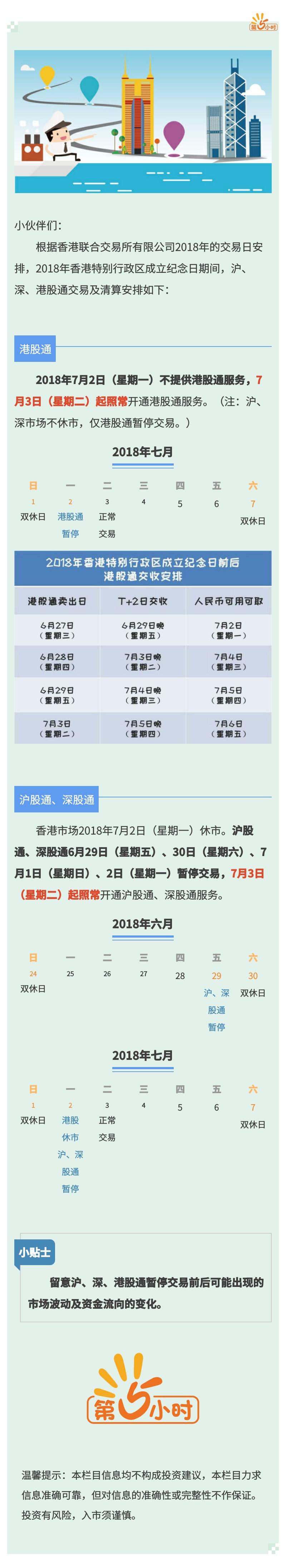 2018年香港特别行政区成立纪念日期间沪、深、港股通交易及清算安排.jpg